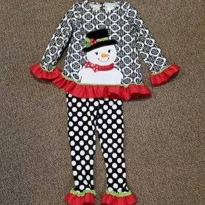 Emily Rose Snowman 2 Piece Holiday Outfit